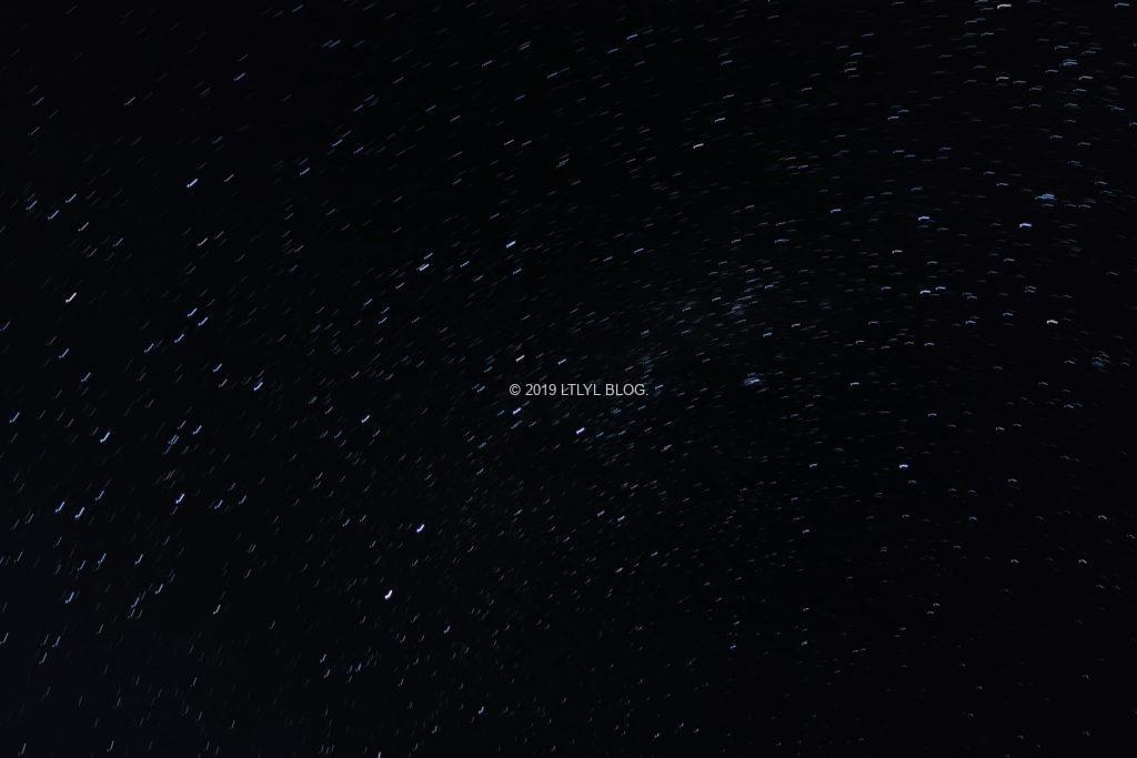 2分間カメラを開けたまま撮った星空