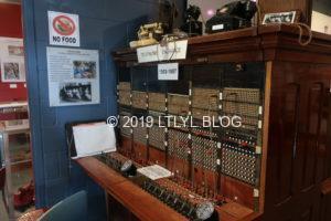 昔の電話交換台