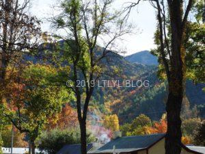 Arrowtownの紅葉と家の屋根