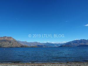 Alberttownから望むWanaka湖
