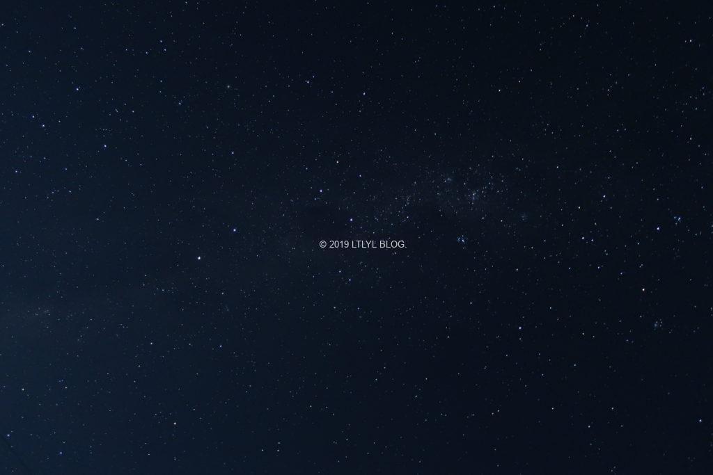星空撮影モードで撮った天の川