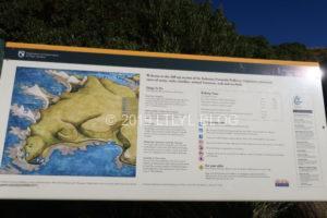 Peninsula walkwayの案内看板