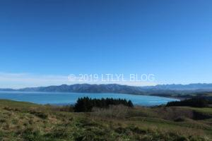 Kaikouraの展望台から望める景色