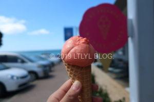 ブラッドオレンジアイスクリーム