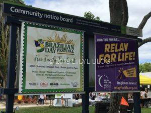 ブラジリアンフェスティバルの看板