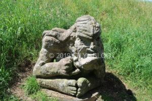 Mount Victoriaにあるマオリ像