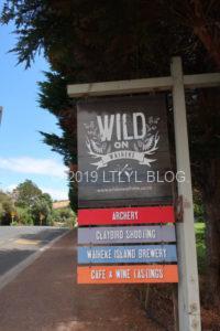 Wild on Waihekeの看板