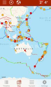 世界の震源地マップ