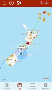 震源地マップ