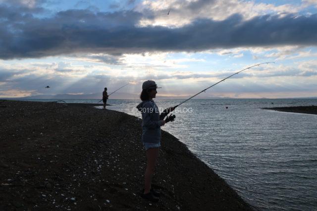 釣りにチャレンジする私