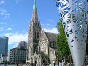 カンタベリー地震前のクライストチャーチ大聖堂