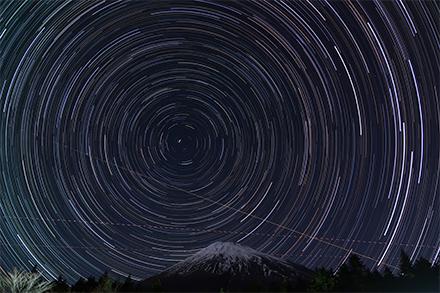 星空軌跡写真
