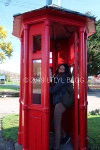 昔の電話ボックス