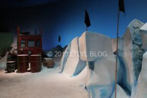 雪の降るエリア