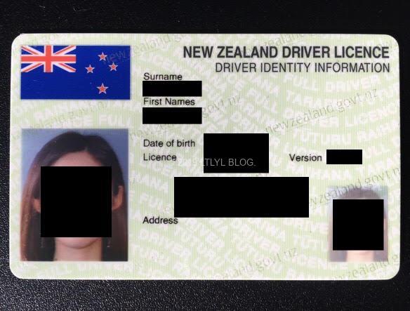 ニュージーランドの免許証