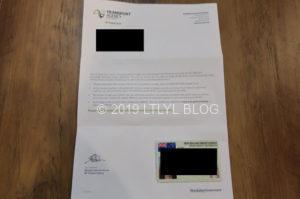 NZ免許証のレター