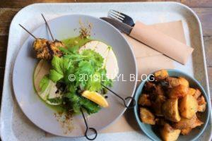Market Fish Skewers&Crispy potatoes with lemon and herb salt
