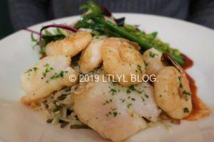 Grilled Monkfish & Prawns
