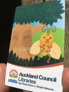 オークランドの図書カード