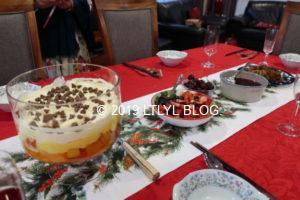 クリスマスパーティーのデザート