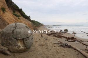 モエラキ海岸にある石