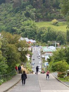 坂道の頂上からの風景