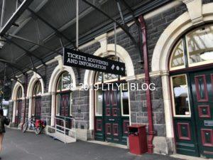 ダニーデン駅のホーム
