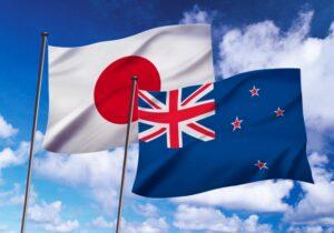 日本とニュージーランドの国旗