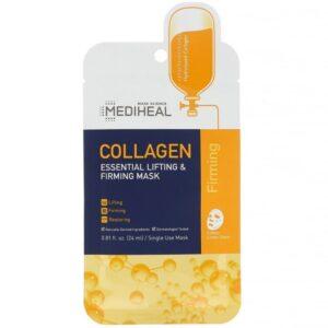 Mediheal, コラーゲン、エッセンシャルリフティング&ファーミングマスク